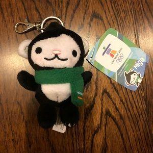 NWT Vancouver 2010 Olympics Miga mascot keychain